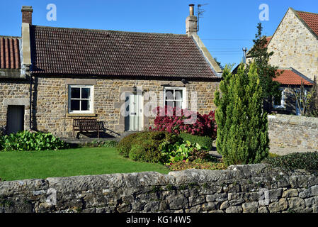 A cottage in the village of Whorlton, County Durham, near the River Tees and the Teesdale Way. - Stock Photo