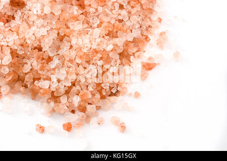 Himalayan salt isolated on white background - Stock Photo