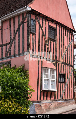 Half timbered cottage Lavenham Suffolk England - Stock Photo