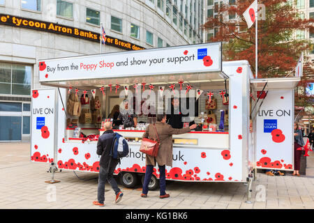The Royal British Legion pop in shop in the centre of Swindon Stock