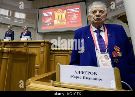 St Petersburg, Russia. 2nd Nov, 2017. Gennady Zyuganov (R back), Chairman of the Russian Federation Communist Party, - Stock Photo