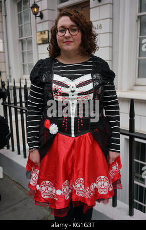 London, UK. 2nd November, 2017. Danielle Rowley Mp join protest on the Day to remember the dead in Mexico of the - Stock Photo