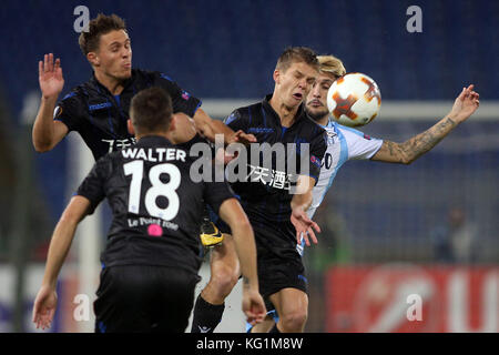 ROME, ITALY - NOVEMBER 02: Luis Alberto during the UEFA Europa League group K match between Lazio Roma and OGC Nice - Stock Photo