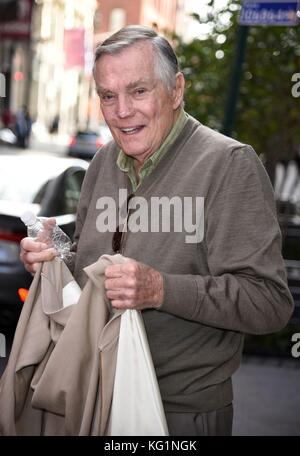 New York, NY, USA. 2nd Nov, 2017. Peter Marshall, seen at AOL BUILD to promote his new film WAIT FOR YOUR LAUGH - Stock Photo