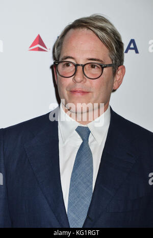 Los Angeles, California, USA. 02nd Nov, 2017. Matthew Broderick 018 arrives for the 6th Annual 'Reel Stories, Real - Stock Photo