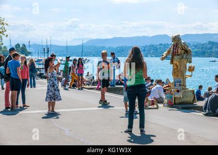 Zürich, Schweiz :  am Zürichsee - Stock Photo