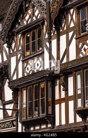 Tudor Buildings Ludlow Shropshire England - Stock Photo