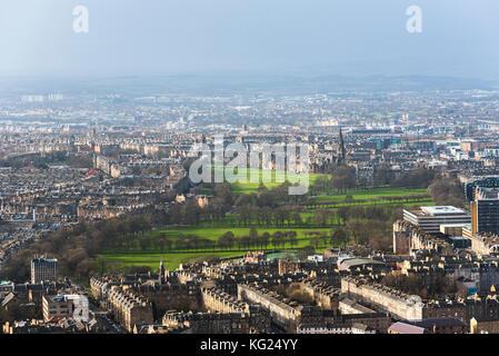Arthur's Seat, Edinburgh, Scotland, United Kingdom, Europe - Stock Photo