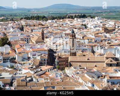 View from the hilltop fortress, Antequera, Andalucia, Spain, Europe - Stock Photo