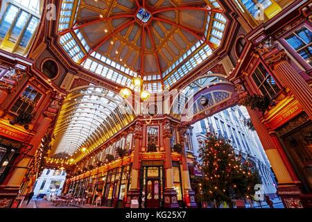 Leadenhall Market, City of London, London, England, United Kingdom, Europe - Stock Photo