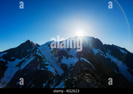 Mont Blanc, 4810m, Chamonix, Rhone Alpes, Haute Savoie, France, Europe - Stock Photo