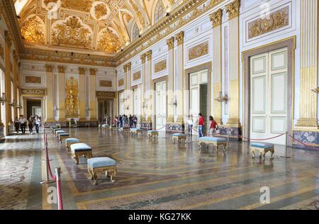 Salon, Reggia di Caserta, Caserta, Campania, Italy, Europe - Stock Photo