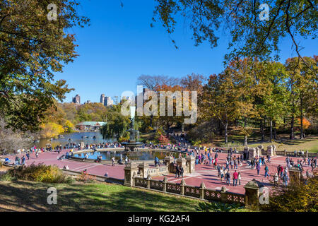 Bethesda Fountain, Central Park, New York City, NY, USA - Stock Photo