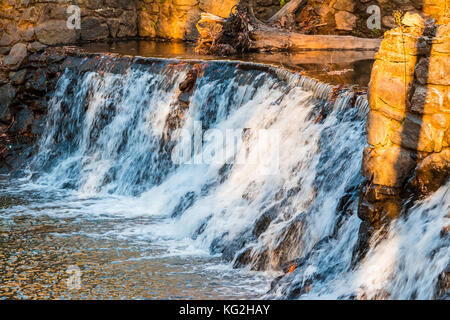 Spillway waterfall closeup in the Lullwater Park, Atlanta, USA - Stock Photo