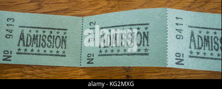 Admission tickets - Stock Photo