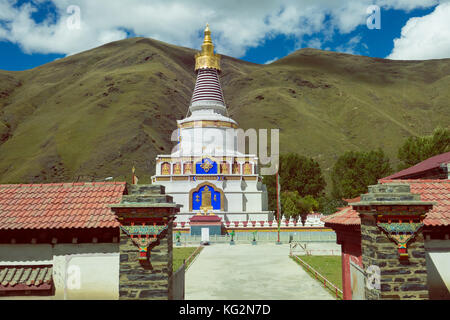 Pagoda of Buddhism in Tibet ,China - Stock Photo