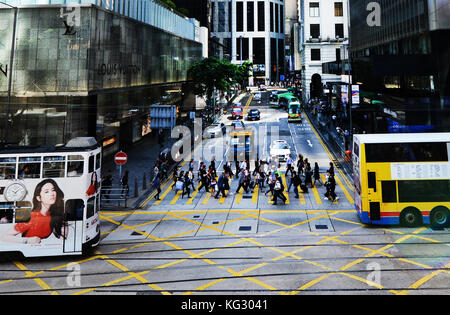 Hong Kong's Central District. - Stock Photo