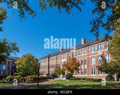 Hanes Hall at the University of North Carolina at Chapel Hill, North Carolina, USA - Stock Photo