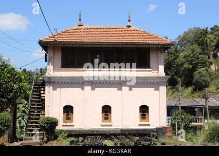 Peradeniya Junction Station Kandy Central Province Sri Lanka Station Cabin - Stock Photo