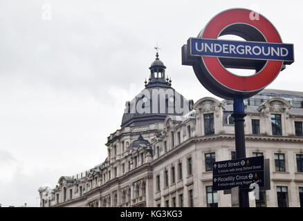 UNDERGROUND London - Metro -  Rapid transit - Railway 1863 - Stock Photo