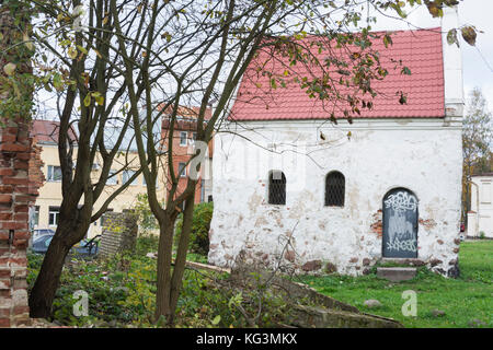Old White Building in Vyborg Old Town - Stock Photo