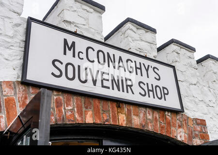 McConaghy's Irish Souvenir Shop at the Giant's Causeway, Northern Ireland, which is under threat of closure by the - Stock Photo