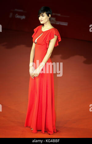 ROME, ITALY - NOVEMBER 02: Alice Sabatini walks a red carpet for 'Trouble No More' during the 12th Rome Film Fest - Stock Photo