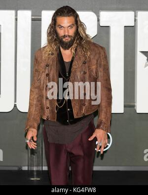 London, UK. 04th Nov, 2017. Jason Momoa attends photocall of JUSTICE LEAGUE. London, England, UK. Credit: dpa picture - Stock Photo