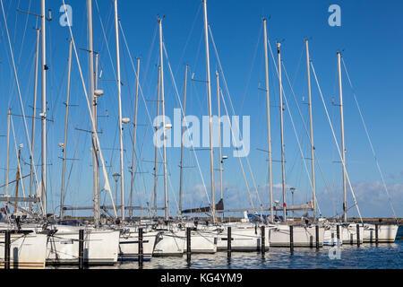 Bootshafen, Marina in Heiligenhafen,Deutschland - Stock Photo