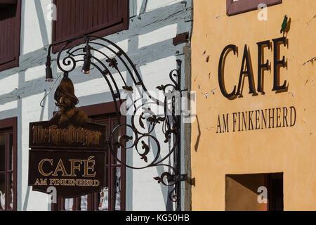Cafe am Finkenherd Quedlinburg - Stock Photo