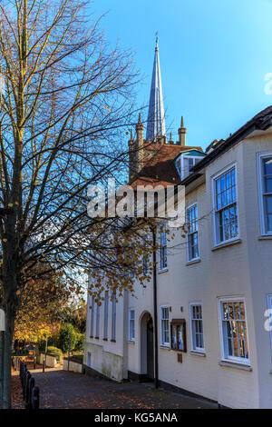 Market town of bishops stortford, hertfordshire, england. uk, gb, europe - Stock Photo