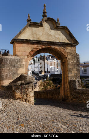 Ancient City Walls and Gateway - Ronda, Andalucia, Spain - Stock Photo