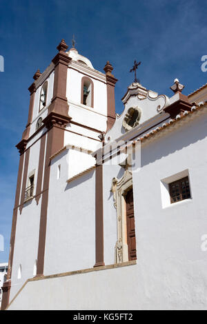 Silves, town on the river Arade, Silves Cathedral / Sé Catedral de Silves - Stock Photo