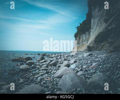 Jasmund National Park, cliff, beach - Stock Photo