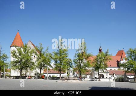 Neues Schloss (palace), Bayerisches Armeemuseum (museum), Ingolstadt, Upper Bavaria, Bavaria, Germany, Europe - Stock Photo