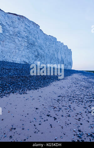 England, East Sussex, Eastbourne, South Downs National Park, The Seven Sisters Cliffs at Birling Gap - Stock Photo