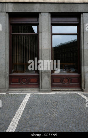 Europe, Czech Republic, Prague, shop facade, detail, windows - Stock Photo