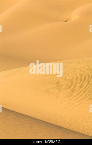 Details and shapes of the sand dunes modeled by wind Walvis Bay Namib Desert Erongo Region Namibia Southern Africa - Stock Photo