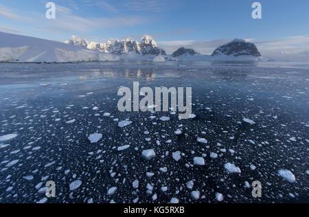 Pack ice and scenery, Antarctica - Stock Photo