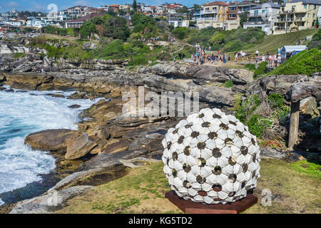 Sculpture by the sea 2017, annual exhibition on the coastal walk between Bondi and Tamara Beach, Sydney, New South - Stock Photo