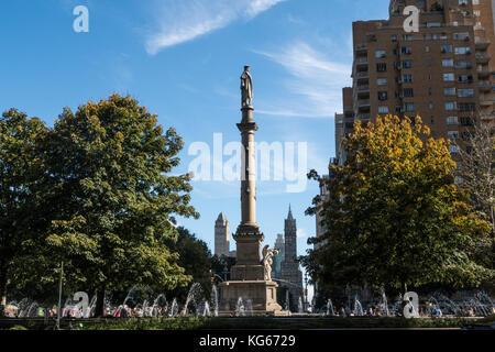 Christopher Columbus Monument, Columbus Circle, NYC - Stock Photo