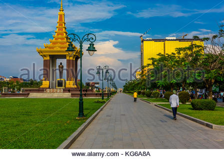 Norodom Sihanouk Memorial for the legendary former king/prime minister/statesman King Father Norodom Sihanouk, who - Stock Photo