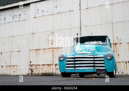 1950 Chevrolet pick up truck at Bicester Heritage Centre. Oxfordshire, England - Stock Photo