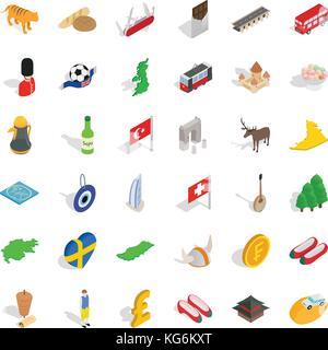 Homeland icons set, isometric style - Stock Photo