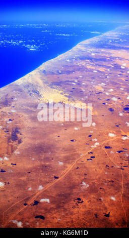 Aerial view of Somalia, Africa. - Stock Photo