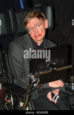Professor Stephen Hawking scientist ,dies peacefully at his home in Cambridge 13th March 2018 England UK. . Archive - Stock Photo