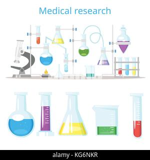 concept for chemical laboratory research - Stock Photo