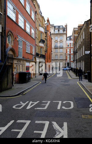 Wigmore Hall Artistes Entrance, Welbeck way, Marylebone, London UK - Stock Photo