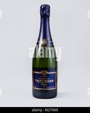 Bottle of Taittinger Champagne - Stock Photo