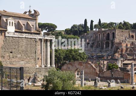 Roman Forum (Latin: Forum Romanum, Italian: Foro Romano), Rome, Italy - Stock Photo